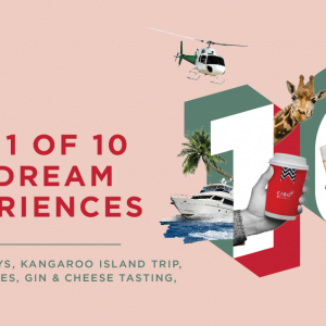 WIN 1 of 10 CIBO DREAM EXPERIENCES